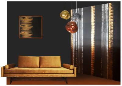 decor-peint-lounge-or-noir-primitif