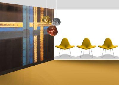 scenographie-business staging-decor-peint-klimt-or