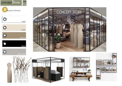 Planche inspiration concept store rousseau delwood