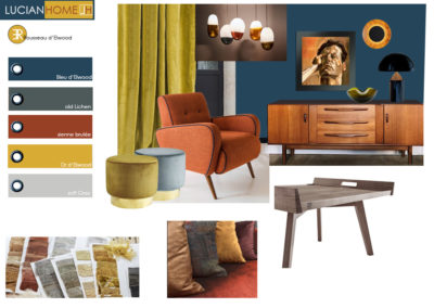 planche tendance inspiration moodboard lucian home spicy decor interieur contemporain vintage