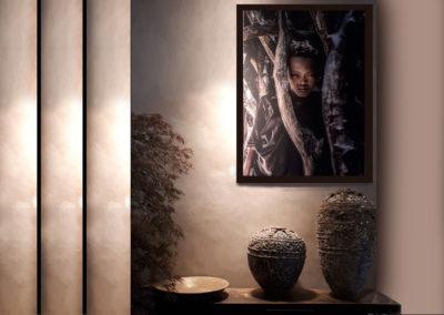 entree lumiere tamisee ethnique décoration feutrée