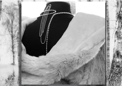 vitrine détail magasin bijoux textile fourrure scénographie