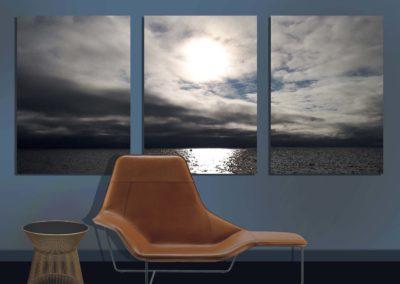 décor ambiance panoramique triptyque toile tableau projet méridienne design