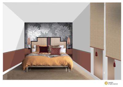 décor ambiance panoramique papier-peint conceptuwall projet chambre hôtel