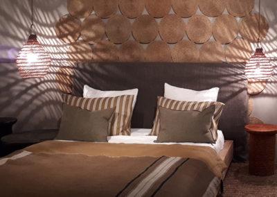ambiance éclairage décoration chambre linge de maison lin naturel