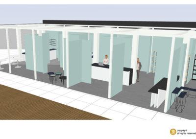 stand pro plan 3D projet maison & objet M&O peinture