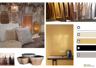 planche inspiration mood board decoration naturel matiere