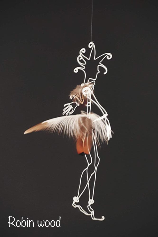 Sculpture fil de fer gemini-iron artwork wiresculpture