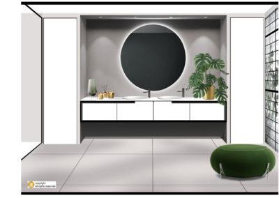 projet salle de bain design italien vegetal actuel